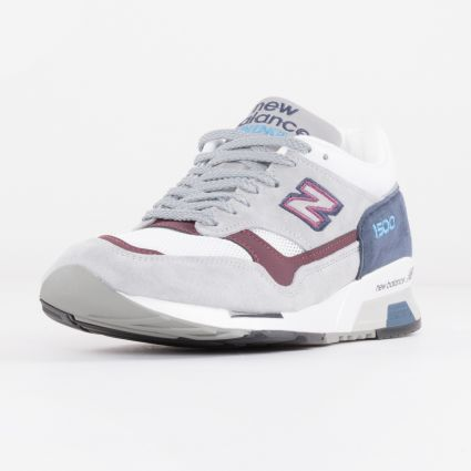New Balance 1500 Made in England Grey/Navy/Burgundy M1500NBR