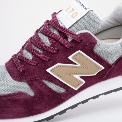 New Balance 670 Made in England Burgundy M670BGW