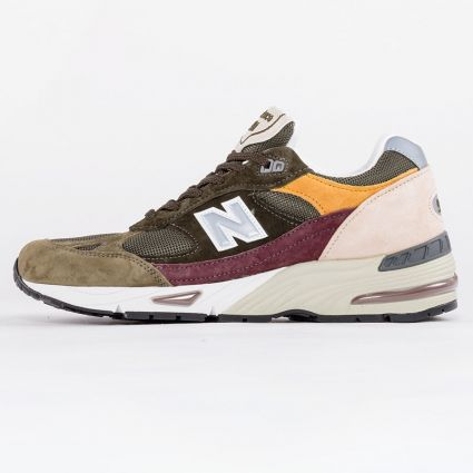 New Balance 991 Desaturated Pack Made in England Green/Burgundy1