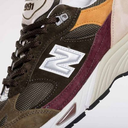 New Balance 991 Desaturated Pack Made in England Green/Burgundy M991GYB