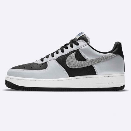 Nike Air Force 1 'Silver Snake' Black/Black-Silver DJ6033-001