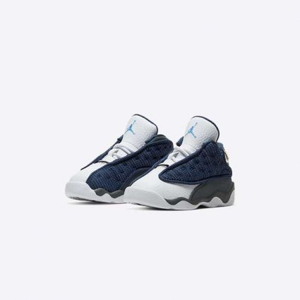 Nike Jordan 13 Retro (TD) 'Flint' Navy/University Blue-Flint Grey-White 414581-404