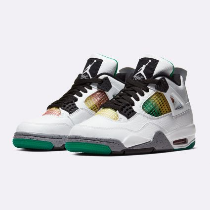 Nike Air Jordan 4 Retro White/Black-University Red-Lucid Green AQ9129-100