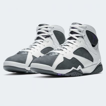Nike Air Jordan 7 Retro White/Varsity Purple-Flint Grey-Black CU9307-100