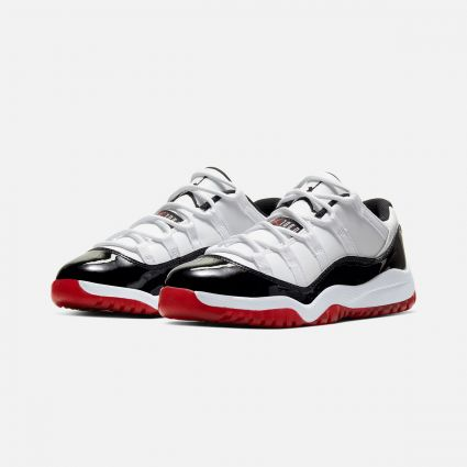 Nike Air Jordan 11 Retro Low (PS) White/University Red-Black-True White 505835-160