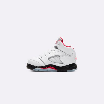 Nike Jordan 5 Retro (TD) True White/Fire Red-Black 440890-102