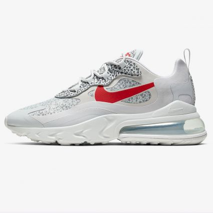 Nike Air Max 270 React Neutral Grey/University Red-Lt Graphite CT2535-001