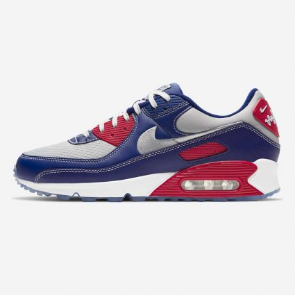 Nike Air Max 90 NRG Deep Royal Blue/Lt Smoke Grey-Gym Red DD8457-400