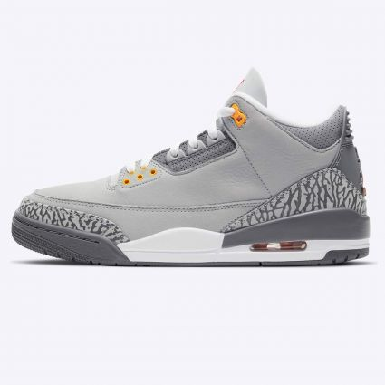 Nike Air Jordan 3 'Cool Grey' Retro Silver/Sport Red-Lt Graphite-Orange Peel CT8532-012