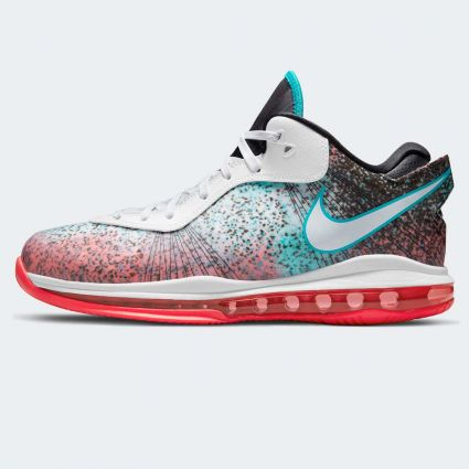 Nike Lebron 8 V/2 Low QS 'Miami Nights' White/White-Solar Red-Glass Blue DJ4436-100