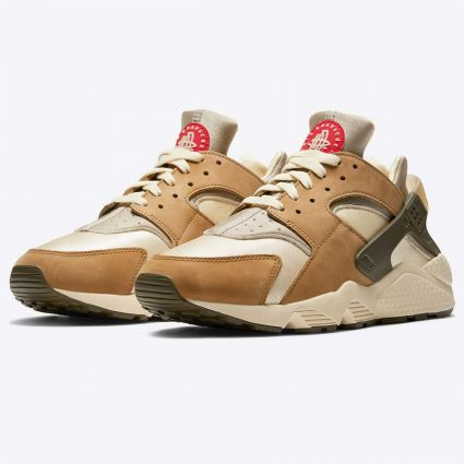 Nike x Stussy Air Huarache LE Desert Oak/Reed-Light Straw DD1381-200