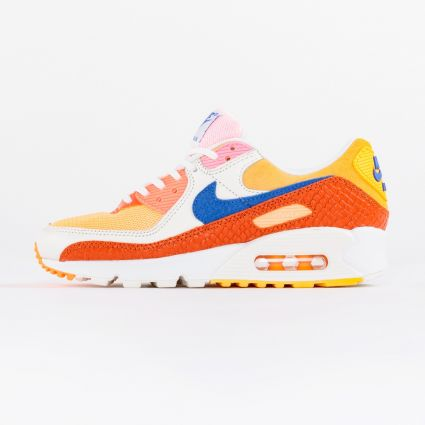 Nike Air Max 90 Campfire Orange/Racer Blue-Sail1