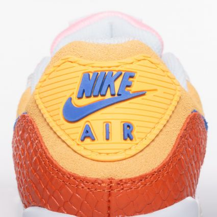 Nike Women's Air Max 90 Campfire Orange/Racer Blue-Sail DJ8517-800