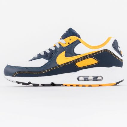 Nike Air Max 90 White/University Gold-Midnight Navy1