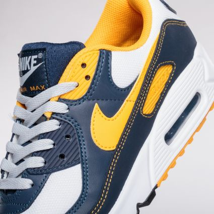 Nike Air Max 90 White/University Gold-Midnight Navy
