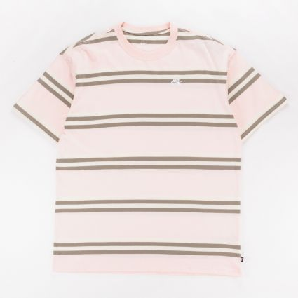 Nike SB Striped Skate T-Shirt Orange Pearl1