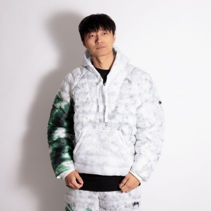 Nike x Stüssy Insulated Pullover Jacket White/Gorge Green