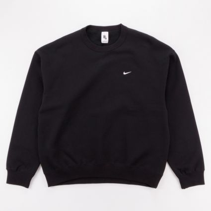 NikeLab Fleece Crew Sweatshirt Black/White1
