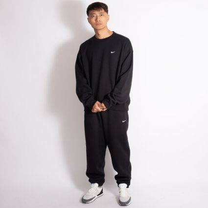 NikeLab NRG Fleece Crew Sweatshirt Black/White