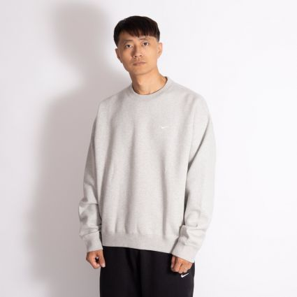 NikeLab NRG Fleece Crew Sweatshirt Grey Heather/White