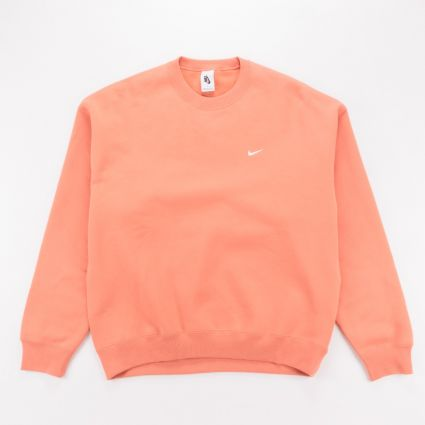 NikeLab Fleece Crew Sweatshirt Healing Orange1