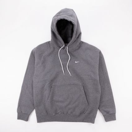 NikeLab NRG Washed Hoodie Charcoal Heather/White1