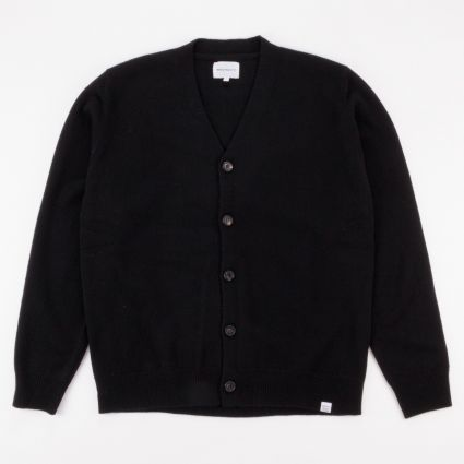 Norse Projects Adam Lambswool Cardigan Black1