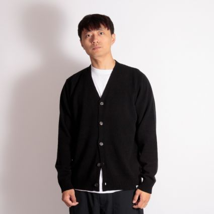 Norse Projects Adam Lambswool Cardigan Black