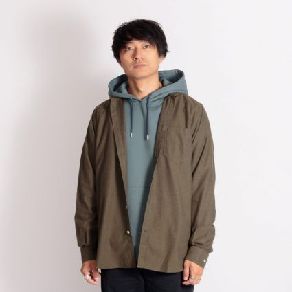 Norse Projects Anton Brushed Flannel Shirt Dark Green