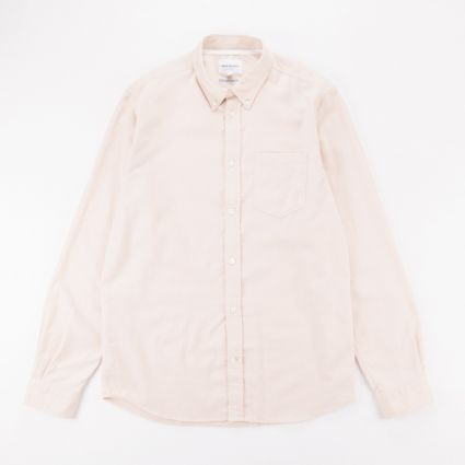Norse Projects Anton Brushed Flannel Shirt Oatmeal1