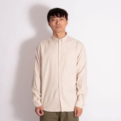 Norse Projects Anton Brushed Flannel Shirt Oatmeal