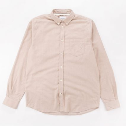 Norse Projects Anton Brushed Flannel Shirt Utility Khaki1
