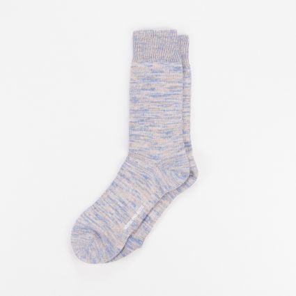 Norse Projects Bjarki Blend Socks Ultra Marine1