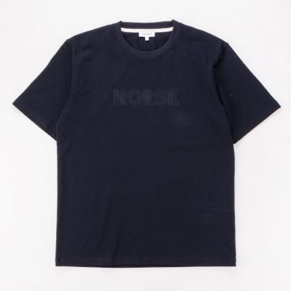 Norse Projects Johannes Norse Logo T-Shirt Dark Navy1