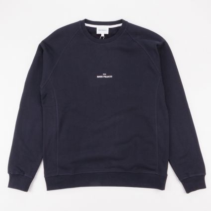 Norse Projects Ketel Wave Logo Sweatshirt Dark Navy1