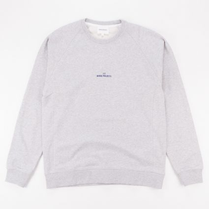 Norse Projects Ketel Wave Logo Sweatshirt Light Grey Melange1