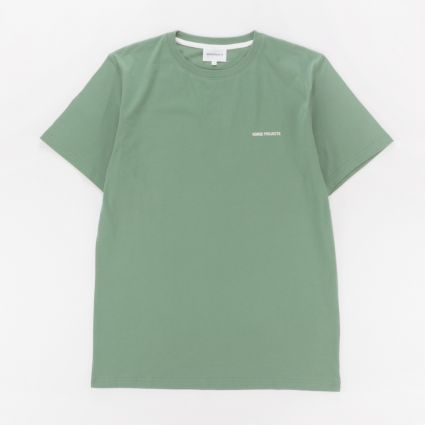 Norse Projects Niels Core Logo T-Shirt Lichen Green1
