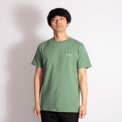 Norse Projects Niels Core Logo T-Shirt Lichen Green