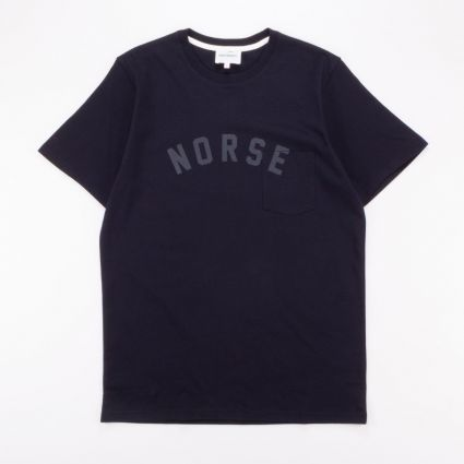 Norse Projects Niels Ivy Logo SS T-Shirt Dark Navy1