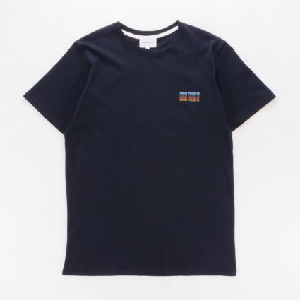 Norse Projects Niels Logo Stack T-Shirt Dark Navy1