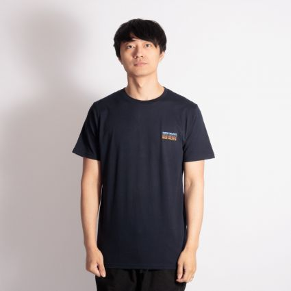 Norse Projects Niels Logo Stack T-Shirt Dark Navy