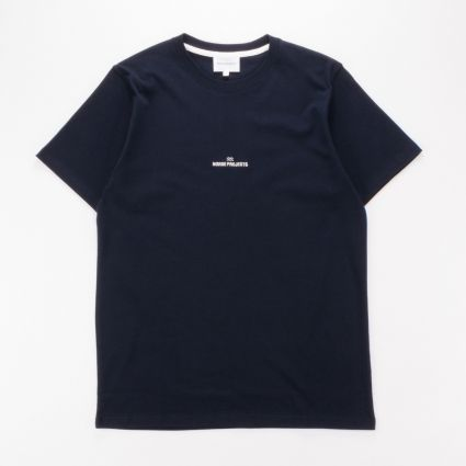 Norse Projects Niels Wave Logo T-Shirt Dark Navy1