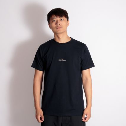 Norse Projects Niels Wave Logo T-Shirt Dark Navy