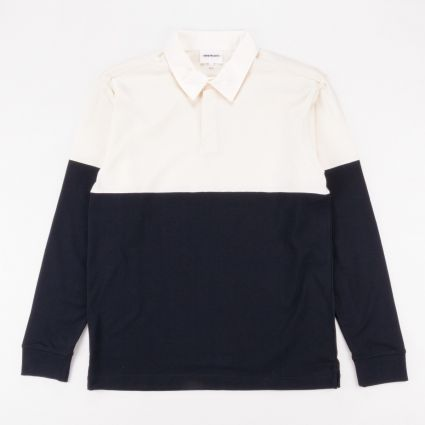 Norse Projects Ruben Polo Colour Block Dark Navy1