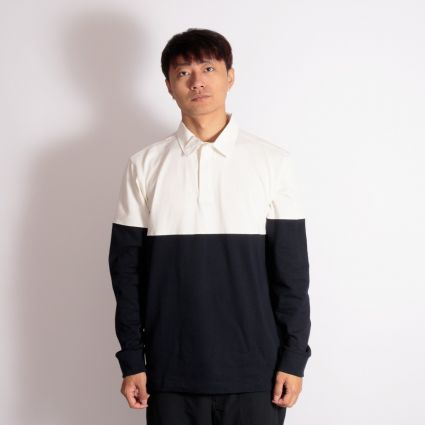 Norse Projects Ruben Polo Colour Block Dark Navy