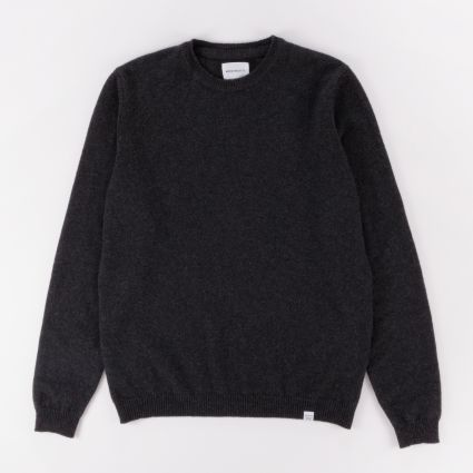 Norse Projects Sigfred Lambswool Charcoal Melange