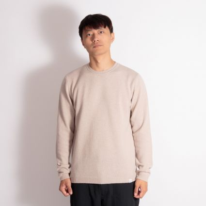 Norse Projects Sigfred Lambswool Knit Sweatshirt Utility Khaki