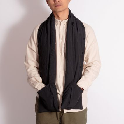 Norse Projects Snap Quilt Scarf Black
