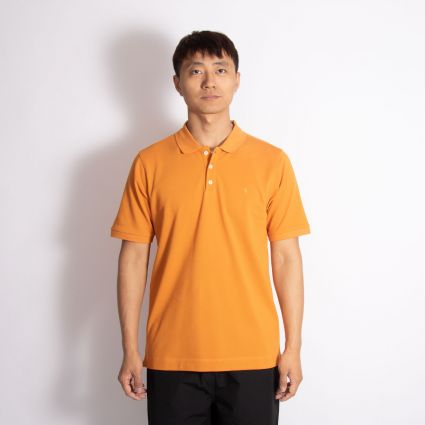 Norse Projects Theis Coolmax Piqué Polo Cadmium Orange