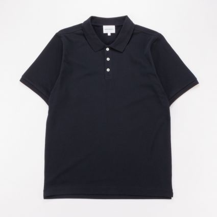 Norse Projects Theis Coolmax Piqué Polo Dark Navy